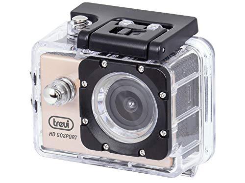Trevi GO 2200 S2 Videocamera Action Cam Sport Wi-Fi Full HD con Custodia Subacquea, Immersioni fino a 30 m, Batteria Ricaricabile, Oro