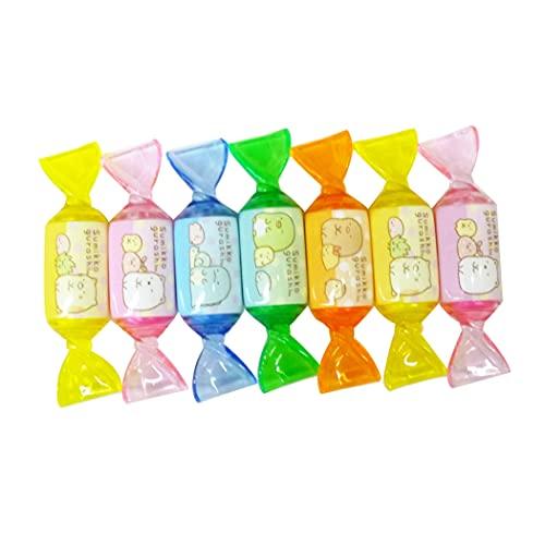 すみっコぐらし 蛍光香り付きキャンディマーカー7本セット 蛍光ペン/マーカー