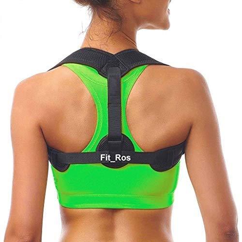 Correttore posturale Fit_Ros - Uomo e Donna - Fascia posturale schiena e spalle - Supporto schiena traspirante e regolabile - Taglia Unica