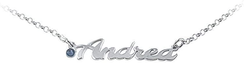 Bracciale con NOME e con o senza strass in argento 925 anallergico, Made in Italy. Disponibili tutti i nomi.