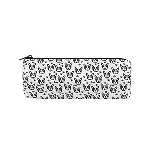 Dog Face Pencil Bag for Girls Boys,French Bulldog Dog Face Pencil Case Pouch for School Office,with Zipper Pencil Pouch for Student Women Men
