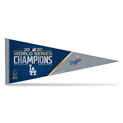 "Rico 2020 Los Angeles Dodgers World Champions Pennant | 12""x30"" Colorful Felt | Baseball Fan Pennant"