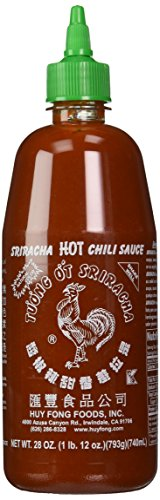 Huy Fong Sriracha Chili Hot Sauce, 28 Ounce Bottle (Pack of 2)