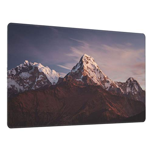 Gaming Mouse Pad,Himalayas Everest Tibet Mountain Landscape Sunset Mousepad 15.8×29.5 Inch