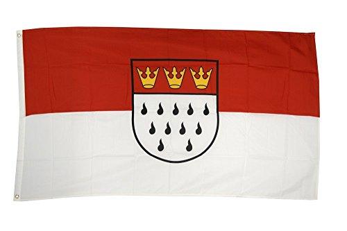 Fahne / Flagge Deutschland Stadt Köln + gratis Sticker, Flaggenfritze®