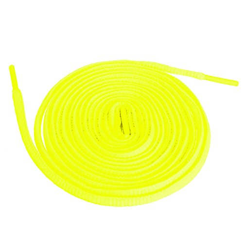 Shoeslulu 46' Premium Flat Laces Fashion Sneakers Shoes (46 in. (117 cm), Neon Yellow)