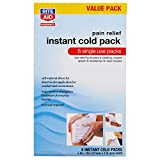 Rite Aid Pain Relief Instant Cold Packs - 8 Cold Packs | Ice Packs for Injuries & Pain Relief | First Aid Supplies | Instant Cold Packs for Injuries | Single Use Ice Packs | First Aid Kit Supplies