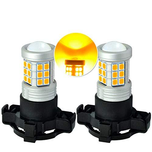 MCK Auto - PSY24W CREE LED Canbus Indicadores ámbar naranja muy brillante y sin errores compatibles con Evoque Transforma tu paseo