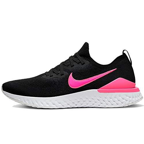 Nike Epic React Flyknit 2 Mens, Black/Black-Pink Blast-White, Size 9.5
