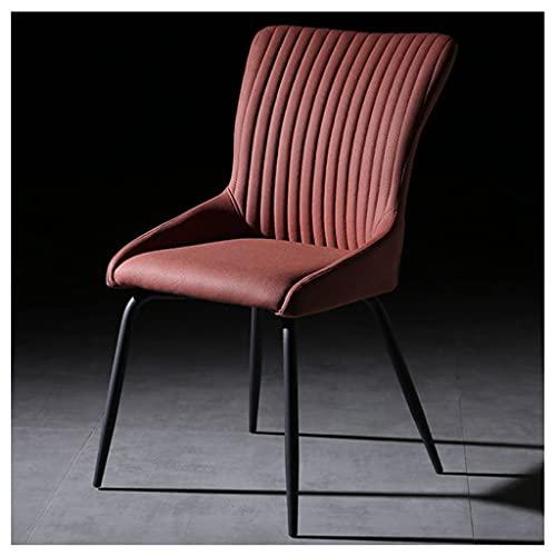 JGHGO Sedie per Sala da Pranzo Casa Moderna Sedia da caffè Minimalista Sedia da Hotel Sedia da Pranzo Sedia Sgabello Sedia nordica in Pelle Artificiale (Color : Red)