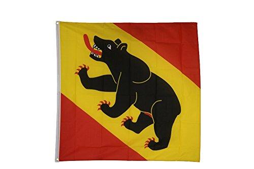 Flaggenfritze Fahne/Flagge Schweiz Kanton Bern - 150 x 150 cm + gratis Sticker, XXL-Fahne