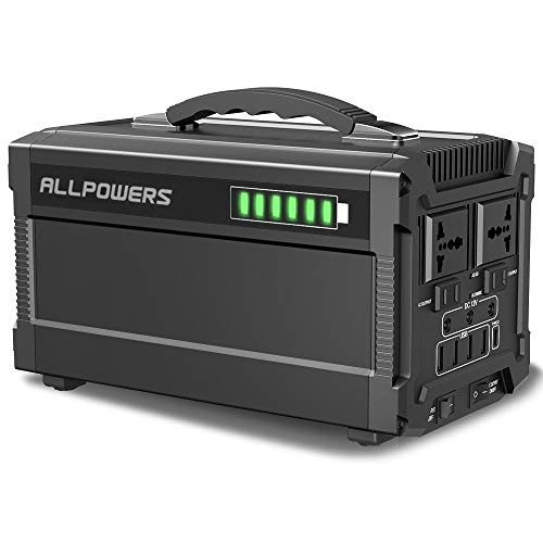 ALLPOWERS 350W Portable Power Station 288Wh UPS Backup Battery Pack for Outdoors Camping Fishing Emergency Backup with Quiet DC/AC Power Inverter, Solar Generator Charged by Solar Panel/Wall Outlet