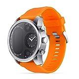 Reloj Inteligente Monitor de Ritmo cardíaco a Prueba de Agua Monitor de sueño con Monitor de Fitness para Hombres, Mujeres, niños Reloj Inteligente,Orange