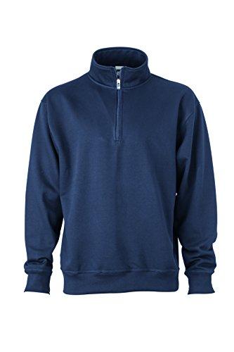 2Store24 Men's Workwear Half Zip Sweat in Navy Size: 3XL
