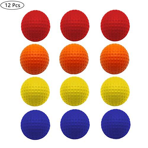 Jeantet Lot de 12 balles de Golf en Mousse Souple Haute densité pour entraînement intérieur et...