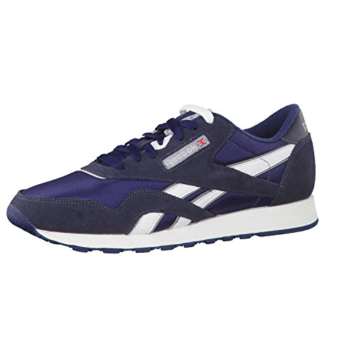 Reebok Herren Cl Nylon 39749 Sneakers, Blau (Team Navy/Platinum), 44 EU