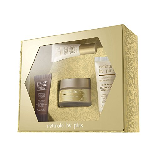 Bottega Verde - Confezione Celebrativa Retinolo BV Plus: Crema Viso Giorno (50 ml) + Crema Viso Notte (15 ml) + Contorno Occhi (5 ml) + Latte Detergente Tonico Viso (30 ml)