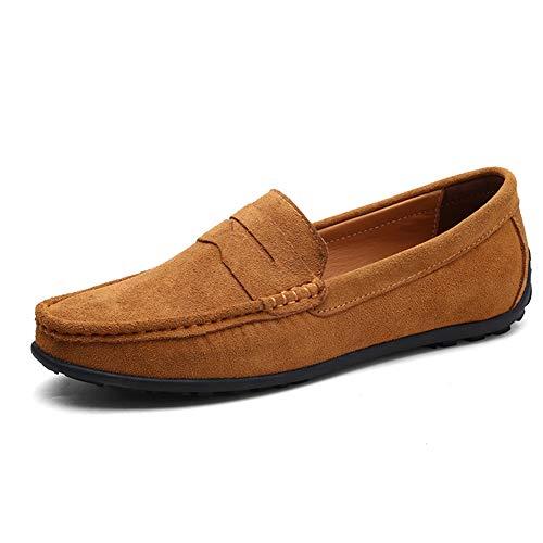 Zhang Herren Comfort Schuhe Frühjahr/Sommer/Herbst Beiläufige Tägliche Outdoor-Loafers & Belegons Suede Abrutschsicherer Wear Proof Schuhe,B,42