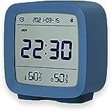 Sveglia ZEYUE Bluetooth, display umidità umidità temperatura schermo LCD luce notturna regolabile (Blu)