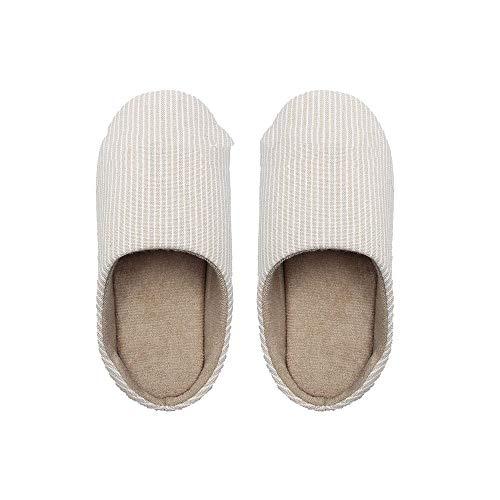 Zapatos de algodón de Felpa para Interiores con Fondo Grueso,Zapatillas de otoño...