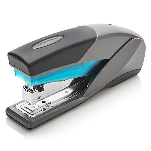 Stapler, Optima 25, Full Size Desktop Stapler, 25 Sheet Capacity, Reduced Effort, Blue/Gray (66404) - SWI66404 (2)