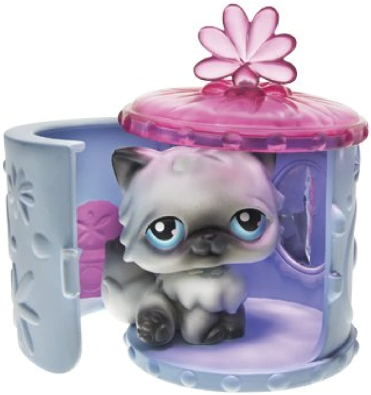 Littlest Pet Shop  Portable Pets  Siamese Kitty with Tiara, Carrying Case and Vanity Mirror