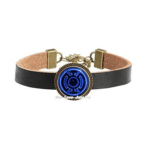 Pulsera de linterna azul, brazalete de linterna azul, pulsera de videojuegos, regalos de arte, para ella, para él, TAP097