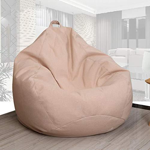 GJZM Large Bean Bag Chair, Bean Bag del sofà, Lazy Lounger Schienale Alto Bean Bag Chair con Tasche Laterali, all'aperto e al Coperto Bean Bag reclinabile