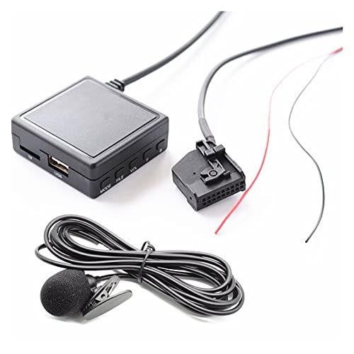 Qinndhto Coche Bluetooth 5.0 Wireless DE Alta FIDELIDAD Adaptador de micrófono AUX Bluetooth TF USB Flash Drive Fit para VW Asiento Skoda MFD2 RNS2 Radio estéreo Adaptadores