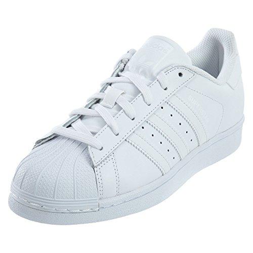 adidas Originals mens Super Star Sneaker, White/Deep White/White, 7 US