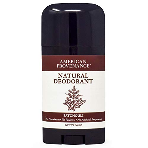 American Provenance Aluminum Free Natural Deodorant for Men and Women | Patchouli Essential Oil | 2.65 oz