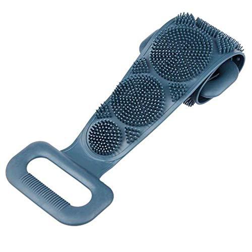 Brosse En Silicone Serviette De Bain Essuyer Le Dos Boue Peeling Body Shower Magic Brush Flexible Scrubber Nettoyage De Salle De Bain Taille Unique B
