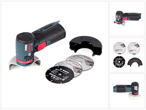 Bosch Professional 12V System Akku Winkelschleifer GWS 12V-76 (3 Trennscheiben, Scheibendurchmesser: 76 mm, ohne Akkus und Ladegerät, im Karton)