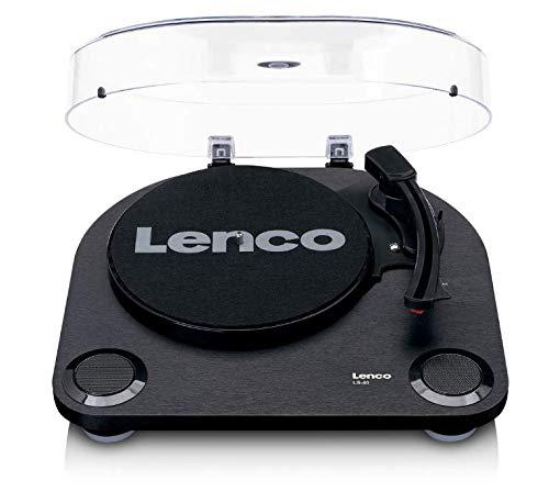 Lenco Plattenspieler LS-40 - Plattenspieler mit integrierten Lautsprechern - Schwarz
