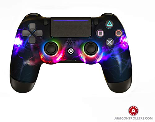 AimControllers - Custom PS4 Controller - DualShock 4 - Sony Playstation 4 Konsole Personalisiert Gamepad - Led Red
