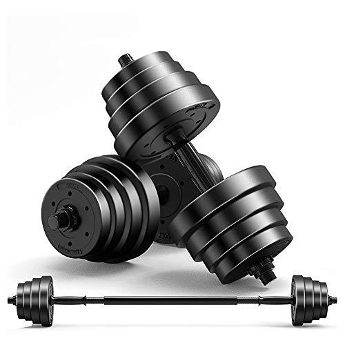 SYXX Männlich Fitnessgeräte Sport Home Sport Fitnessgeräte Boutique Gummi Langhantelset Fitnessgeräte Heim Übung Arm Abnehmbarer (Größe : 15KG)
