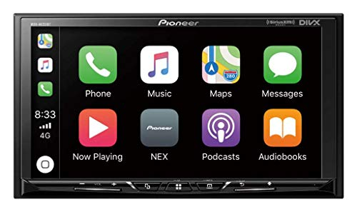 Pioneer MVH-AV251BT - Receptor de vídeo digital multimedia con pantalla táctil de 7 pulgadas, Apple CarPlay, Android AUT, Bluetooth integrado y SiriusXM-Ready (no reproduce CDs)