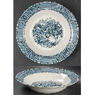 Currier and Ives Blue Rim Soup Bowl by Royal (USA) | Replacements, Ltd.