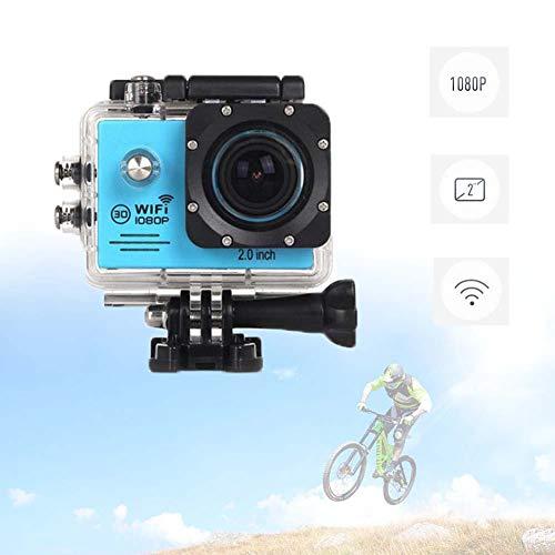 Actiecamera 1080P Wifi, 170 ° Supergroothoek Ultra Hd-Camcorder Met Bevestigingsaccessoires En Geheugenkaart Snowboarden Om Te Surfen, Skiën