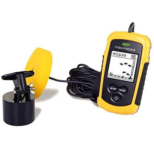 LUCKY Wired Fish Finder Sonar Sensor Transducer Water Depth Finder Portable Fish Finder for Fishing