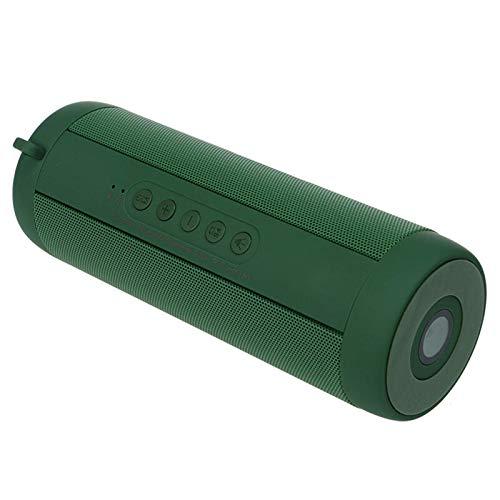 Soundbar1800mAh Altavoz Bluetooth para el hogar Hi-Fi estéreo inalámbrico LED luz reproductor de música bajo sistema de cine en casa (tamaño: 18.00* 6.30* 6.30 Cm; color: verde)