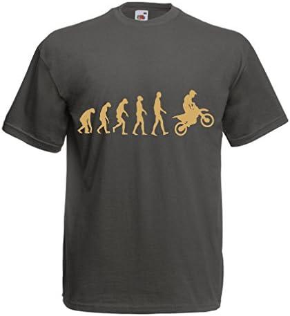 lepni.me Camisetas de Manga Corta Evolución del Motocross para Hombre