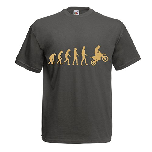 lepni.me Camisetas Hombre Evolución del Motocross Equipo de Moto Ropa de Carreras Todoterreno