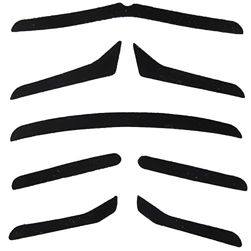 5 tipos divertidos bigotes falsos, fiesta Halloween Navidad barba falsa, rendimiento festivo Cosplay autoadhesivo novedad bigote