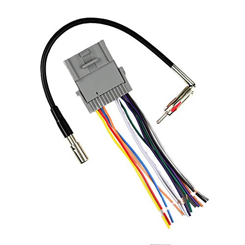 Car Speaker Radio Wiring Harness and Antenna Adapter for Some GM Chevy GMC 2000-2012 Model