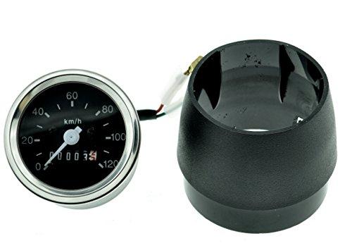 Tachometer 120km/h passend für Simson S51 S70 Tuning mit Tachohülle 60mm