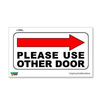 Gebruik alstublieft andere deur rechts pijl - Business Store Deur Aluminium Teken Metalen Tekenen Vintage Road Tekenen Blikken Borden Decoratieve Plaque