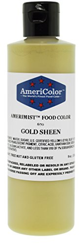 AmeriColor Amerimist Airbrush Color 9 Ounce, Gold Metallic Sheen
