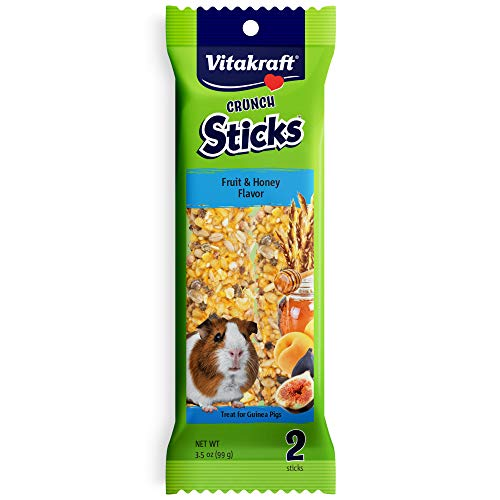 Vitakraft Guinea Pig Fruit & Honey Treat Sticks 2 Pack, 3.5 Ounce