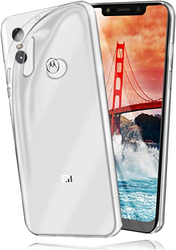 moex Aero Hülle kompatibel mit Motorola One / P30 Play - Hülle aus Silikon, komplett transparent, Klarsicht Handy Schutzhülle Ultra dünn, Handyhülle durchsichtig einfarbig, Klar